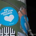 Aufkleber Berlin Ein Herz für Touris
