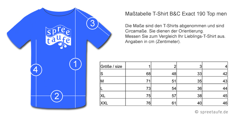 Masstabelle cooles Berlin T-Shirt