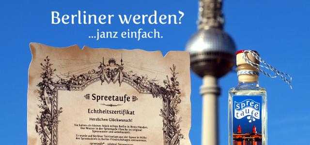 Spreetaufe Geschenk Souvenir Berlin